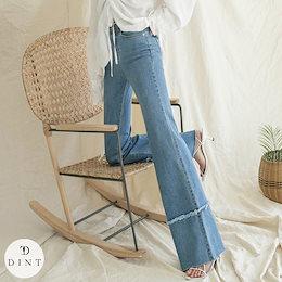 「DINT」 ★送料無料★PJ403♥ワイドデニムパンツ*Lサイズ制作*♥セレブ系オフィススタイル♥韓国ファッションブランドDINTのオシャレなオフィススタイル提案!