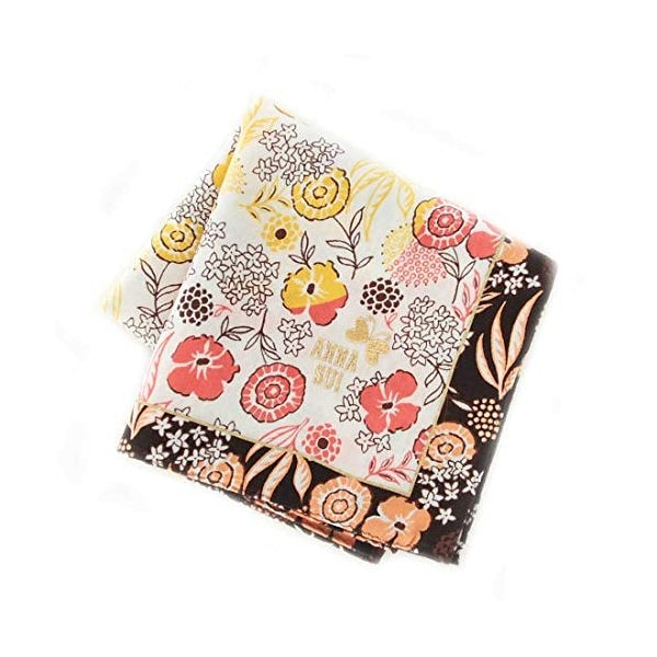 【ANNA SUI 】 刺繍ハンカチ (レッド) [綿100%] 婦人 大判 ハンカチ 50cm ANNA SUI 109130-0202-61