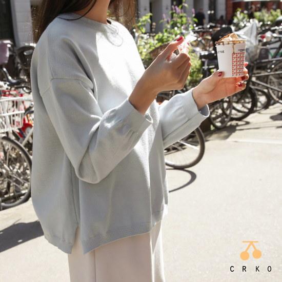 チェリーココourhome sky blue、knitC707PAKN261基本ニット製作 ニット/セーター/韓国ファッション