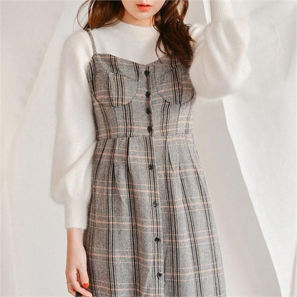旅行たら餡子アンゴラニットnew 女性ニット/ラウンドニット/韓国ファッション