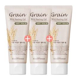 [メディフラワー] (1+1+1) 穀物ピーリングジェル低刺激顔の角質除去ピーリングクレンジング