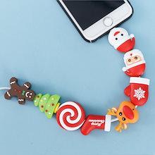 新品 クリスマス サンタクロース トナカイ ツリー 靴下 iPhoneのケーブル断線 ケーブル断線予防 ライトニングケーブル