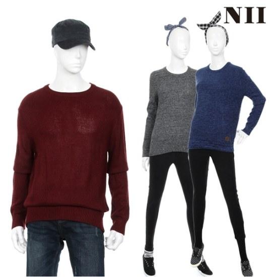 に共用ボカシラウンドセーター ニット/セーター/ニット/韓国ファッション
