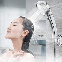 シャワーヘッド  節水シャワーヘッド★3速モード 水量調整機能 シャワー浄水 軽量 3段階調節モード   取り付け簡単 極細水流