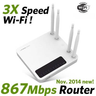 A604 Wire-Wireless Router 867Mbps dual band ipTIME