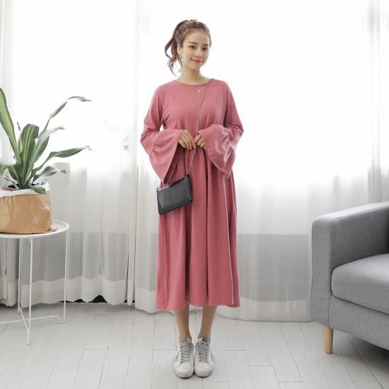クルリクエンミイルランイルランワンピース 綿ワンピース/ 韓国ファッション