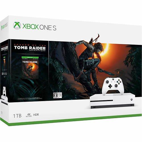 Xbox One S (シャドウ オブ ザ トゥームレイダー同梱版) [1TB] 製品画像