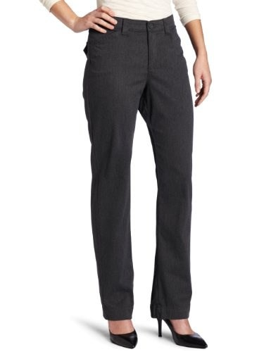 Lee Womens Comfort Fit Straight Leg Pant, Charcoal Heather, 8 Short