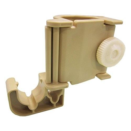 伸縮式エクステリアポール用 ショートフック ポールや突っ張り棒の空き部分に固定してハンガーフックに! (ウッド)