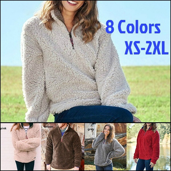 New Winter Warm Appalachian Pile Sherpa Pullover warm cotton hooded sweaters plus size white black