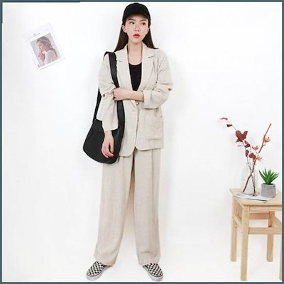 [Hスタイル][行き来するように/Hスタイル]BN/バタースーツセット /ジャケット/テーラードジャケット/韓国ファッション