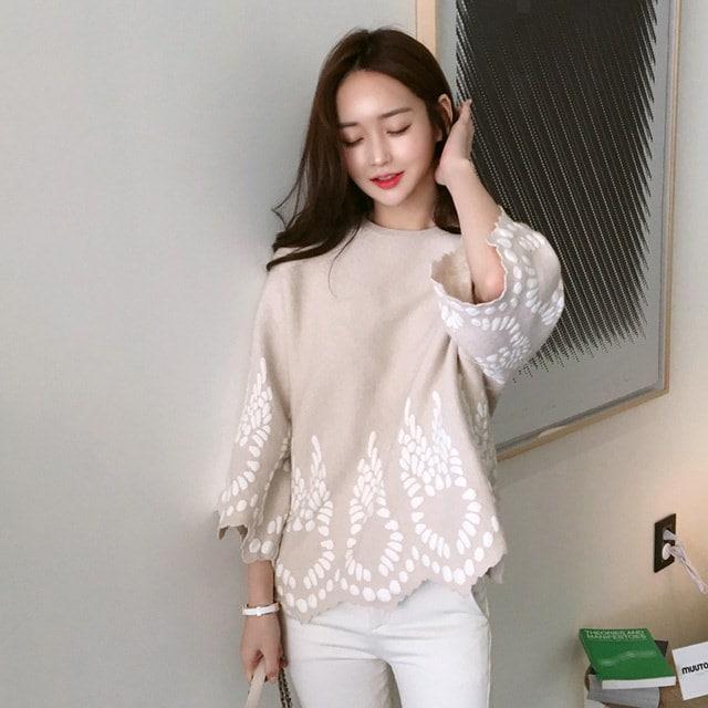 水玉ドットニットkorean fashion style