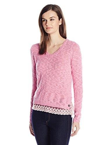 Metal Mulisha Juniors Natasha Pullover Sweater, Baby Pink, Medium