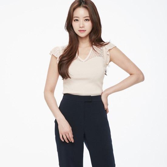 のエゴイスト自首生地パッチニットプルオーバーEH2KH462 ニット/セーター/韓国ファッション