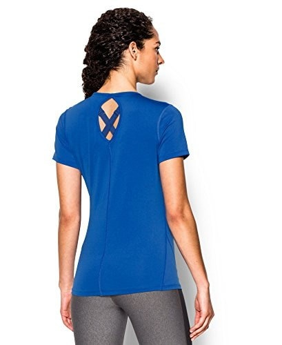 Under Armour Womens UA HeatGear® CoolSwitch Short Sleeve Extra Large ULTRA BLUE