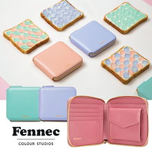 [Fennec]  Fennec Zipper Wallet/ フェネック 本革レザー コンパクト財布▶牛革財布/ 100% 正品/ Made in Korea ♥追加金額なし♥