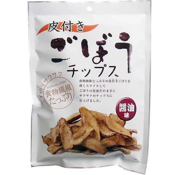 【メール便対応可】味源 皮付き ごぼうチップス 醤油味 95g