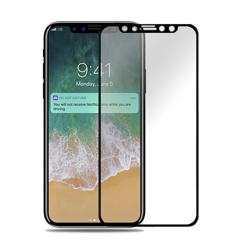 【メール便対応】3カラー iPhone 11 Pro/Xs/X 3D チタン合金 フルガラス 全面フルカバーガラス 強化ガラス 【iphone 保護シート】フルプロテクター