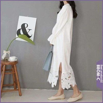 [タプオンタプ][ハーフクラブ/タプオンタプ]フ ラワーレース配色ワンピース(TP1915025) /ワンピース/綿ワンピース/韓国ファッション