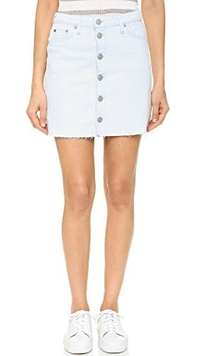 Hudson Womens Cammy Button Up Skirt, Seaside, 23