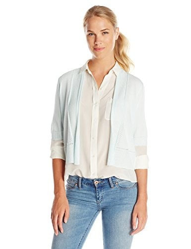 Jones New York Womens Elbow Sleeve Shrug Sweater, Skylight, Small
