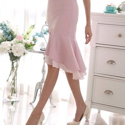 三女子モール修学二重フリルスカートTW72SK050 スカート/ロングスカート/ 韓国ファッション