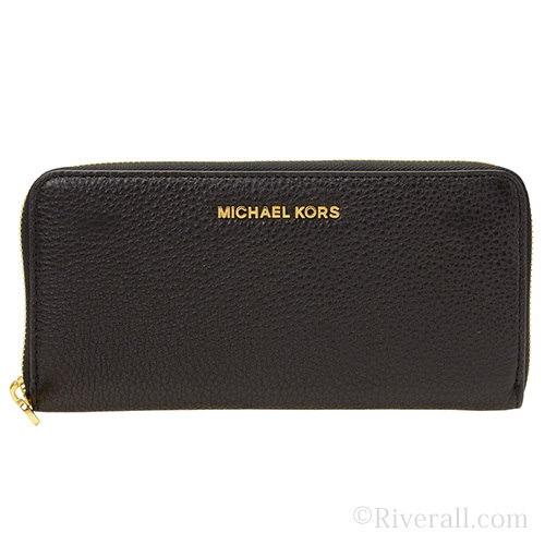 マイケル マイケルコース MICHAEL MICHAEL KORS BEDFORD ZA CONTINENTAL ラウンドファスナー長財布 ブラック レザー 32h2mbfe1l-001 【Luxur