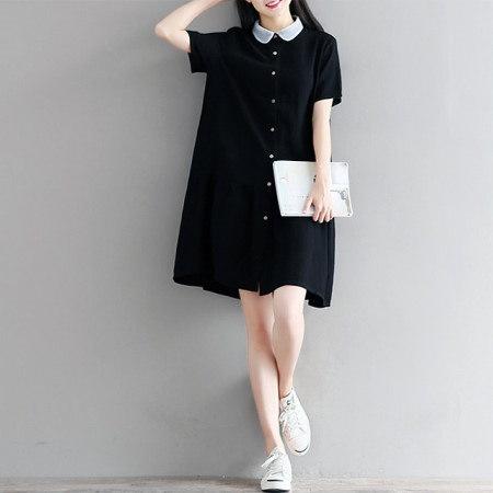ネットカラーフレアワンピースユニークなフレアブラックワンピースkorea fashion style