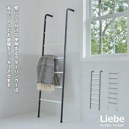 \送料無料/ ラダーハンガー 収納 立て掛け ハンガーラック Liebe:リーベ 幅48×奥行き24.5×高さ161cm 省スペース ラック バッグ 帽子 衣類収納 収納 スチール 軽量