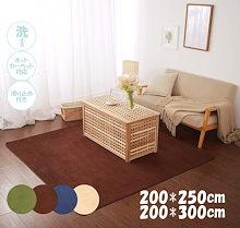 ラグ カーペット 絨毯 じゅうたん 開店セール 200×250cm200×300cm 送料無料 特別価格 洗える 丸洗い 洗濯可 ホットカーペット対応 床暖房対応 滑り止め付き