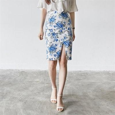 [送料無料]イニククルロジェンフラワーSKIRTスカート 女性のスカート/ロングスカート/韓国ファッション