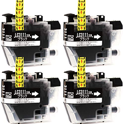 ブラザー用 互換インク LC3111BK ブラック 4本 対応機種:DCP-J572N / DCP-J972N / DCP-J973N / DCP-J978N / DCP-J577N / DCP-J9