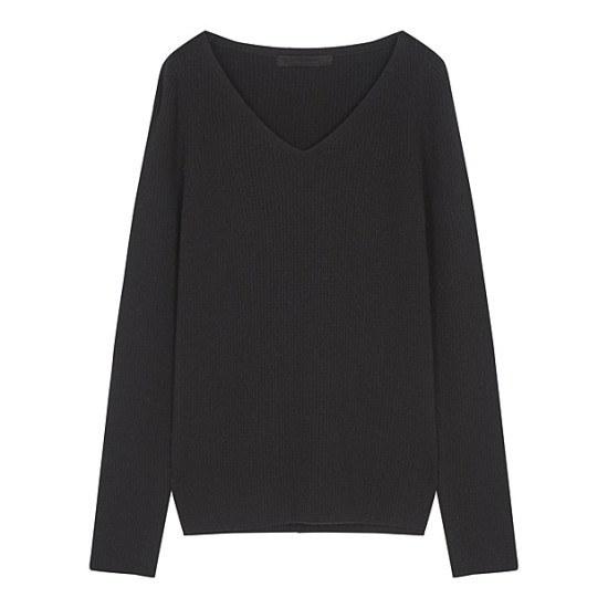 ボブ衣類ソウル100基本ブイネクニート7117150202 ニット/セーター/韓国ファッション