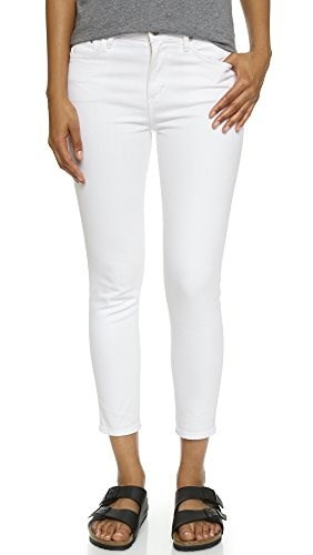Citizens of Humanity Womens Crop Rocket High Rise Skinny Jeans, Optic White, 31