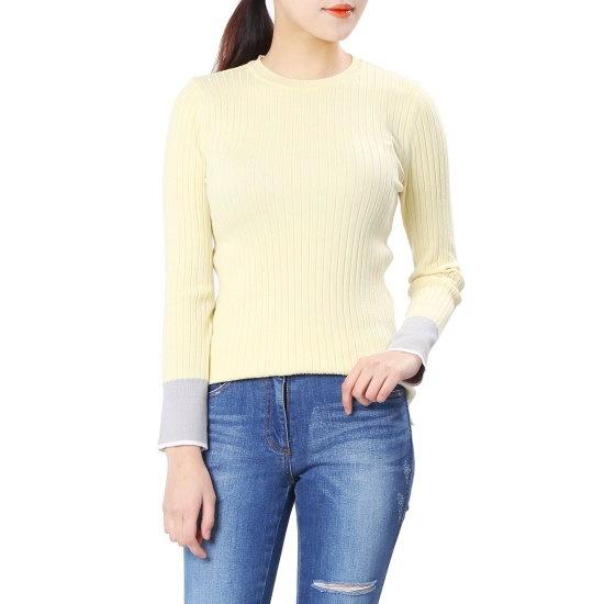 オリーブ・デ・オリーブ小売配色スリムフィットゴルジプルオーバーOK8SP720 / ニット/セーター/ニット/韓国ファッション