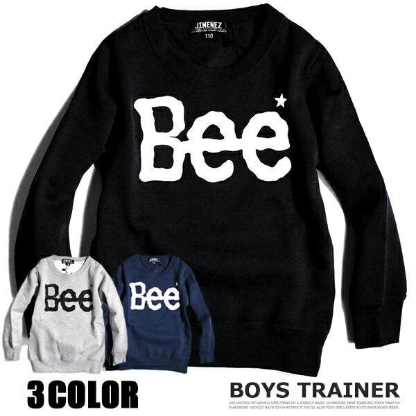 6d383cf37104d 韓国子供服 キッズ 裏起毛 トレーナー Bee 子供服 プリント スウェット 男の子 女の子 ジュニア こども