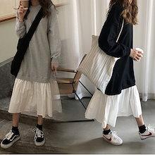 {限定価格♥}韓国のファッション2018早秋、秋冬、韓国のファッション、ワンピース
