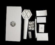 【K-POPグッズ・公式・送料無料EXO - 公式 ペンライト ver.2(ホワイト)公式グッズ / official light stick