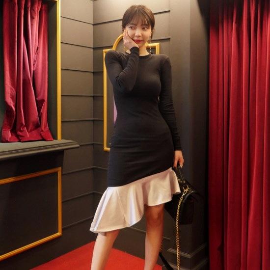リプハプLIPHOP女神ムードワンピース 綿ワンピース/ 韓国ファッション