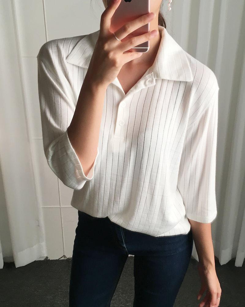 バイオ段ボールカラーニットトップkorea fashion style