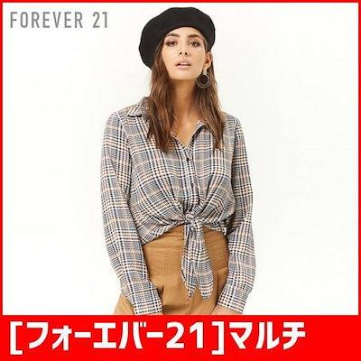 [フォーエバー21]マルチカラーグレンチェックのシャツ /チェックシャツ/ブラウス/韓国ファッション