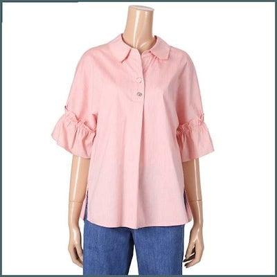 [ティレン]小売フリルパクシのブラウスT192XWB401 /ルーズフィット/ロングシャツ/ブラウス/ 韓国ファッション
