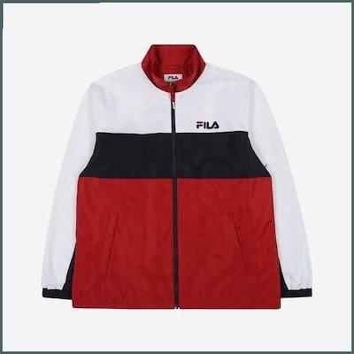[フィラ](共用)レギュルロピッNEW 3段ブロッキングジャケット(FS2JKB1101XDRD) / 風防ジャンパー/ジャンパー/レディースジャンパー/韓国ファッション