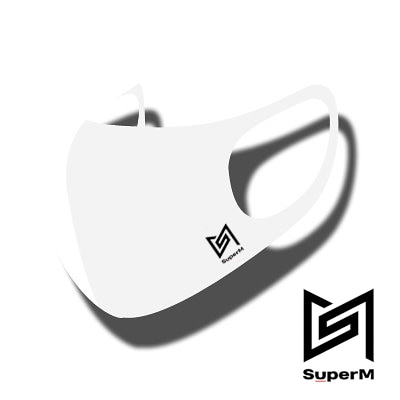 SUPER M LOGO [HAPPYDOOR オリジナル] JIMIN MASK マスク[ STRETCH ANTIBACTERIAL 3D MASK ] 洗濯可能 HYOSUNG