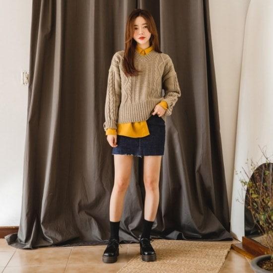 【ツイ]クァベギ五ニット ニット/セーター/ニット/韓国ファッション