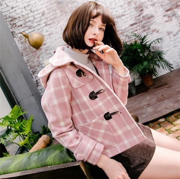 シンプル フード付き  秋新作 ファッション フリース スリム スクール コットン クラシック   着痩せ