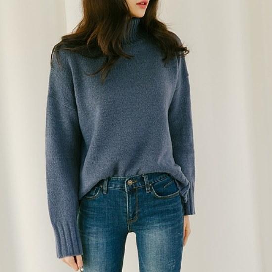 きれいよ。ハリス開けたポーラ・KNIT ニット/セーター/タートルネック/ポーラーニット/韓国ファッション