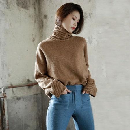 [ディントゥ] E-4218シボレーリズムニットトップkorea fashion style
