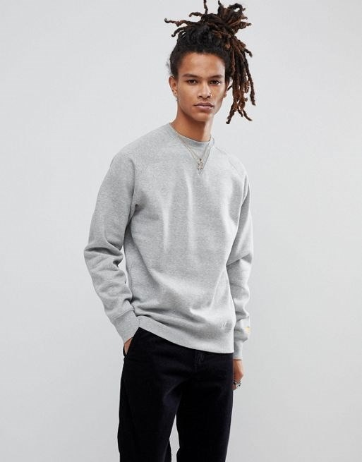 Carhartt WIP Chase Sweatshirt In Gray