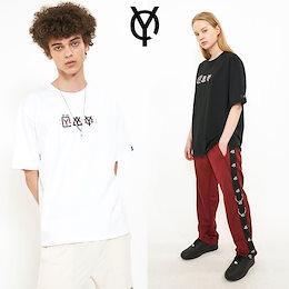 韓国大人気ブランド⚡OY⚡STITCH TRIPLE LOGO T 2色 ユニセックス半袖Tシャツ